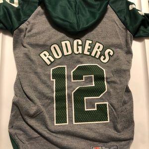 Aaron Rodgers #12 Packers NFLPA Dog Hoodie Tee